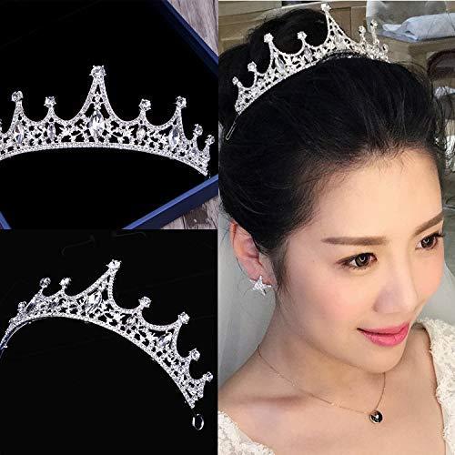 Wedding Crown, Beautiful headdress/Princess Bride Crown Luxurious Diamond Brides Wedding Headwear Wedding Accessories Accessories by Junson (Image #3)
