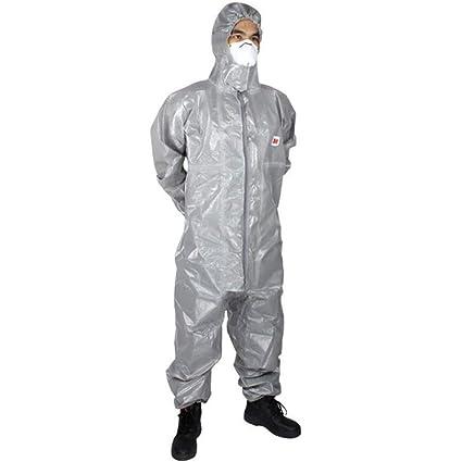 Ropa de protección química con capucha, laboratorio químico ...