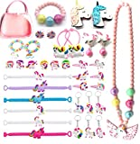 Unicorn Themed Party Favors For Girls-Unicorn Gift Bags-Rubber Band-Unicorn Jewelry Hair Ties...