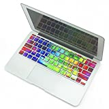 Bfun Rainbow Silicone MacBook Pro Keyboard Decal Keyboard Skins Keyboard Sticker Decoration for MacBook Pro 13 15 Inch