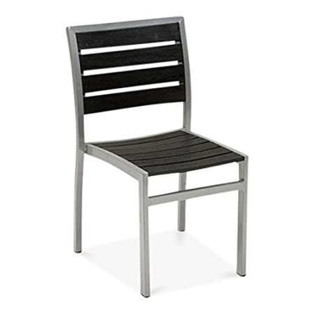 Outstanding Milan Metal Outdoor Dining Chair Black Amazon Co Uk Short Links Chair Design For Home Short Linksinfo