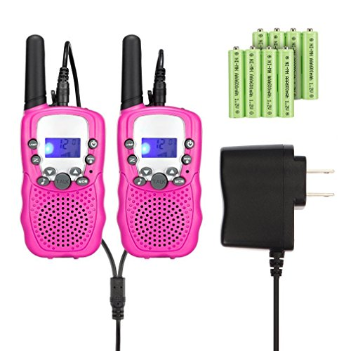 Great Deal! Kids Walkie Talkies with Rechargeable Battery , 22 Channel FRS/GMRS Two Way Radio Up to3...