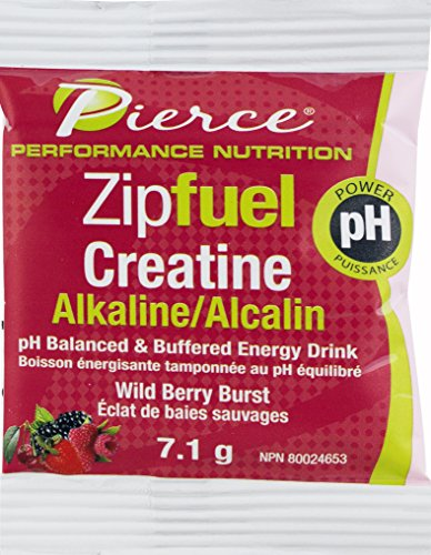 Prairie Naturals Zipfuel Creatine Energy Drink PH Balanced Packets, Wildberry Burst, 30 Count
