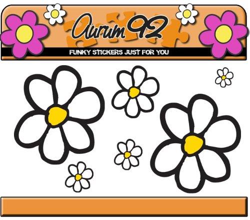 Aurum92 Paquete de Pegatinas de Margaritas – más de 40 Flores