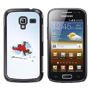 A-type Arte & diseño plástico duro Fundas Cover Cubre Hard Case Cover para Samsung Galaxy Ace 2 (Divertido Nieve Ángeles Diablo)