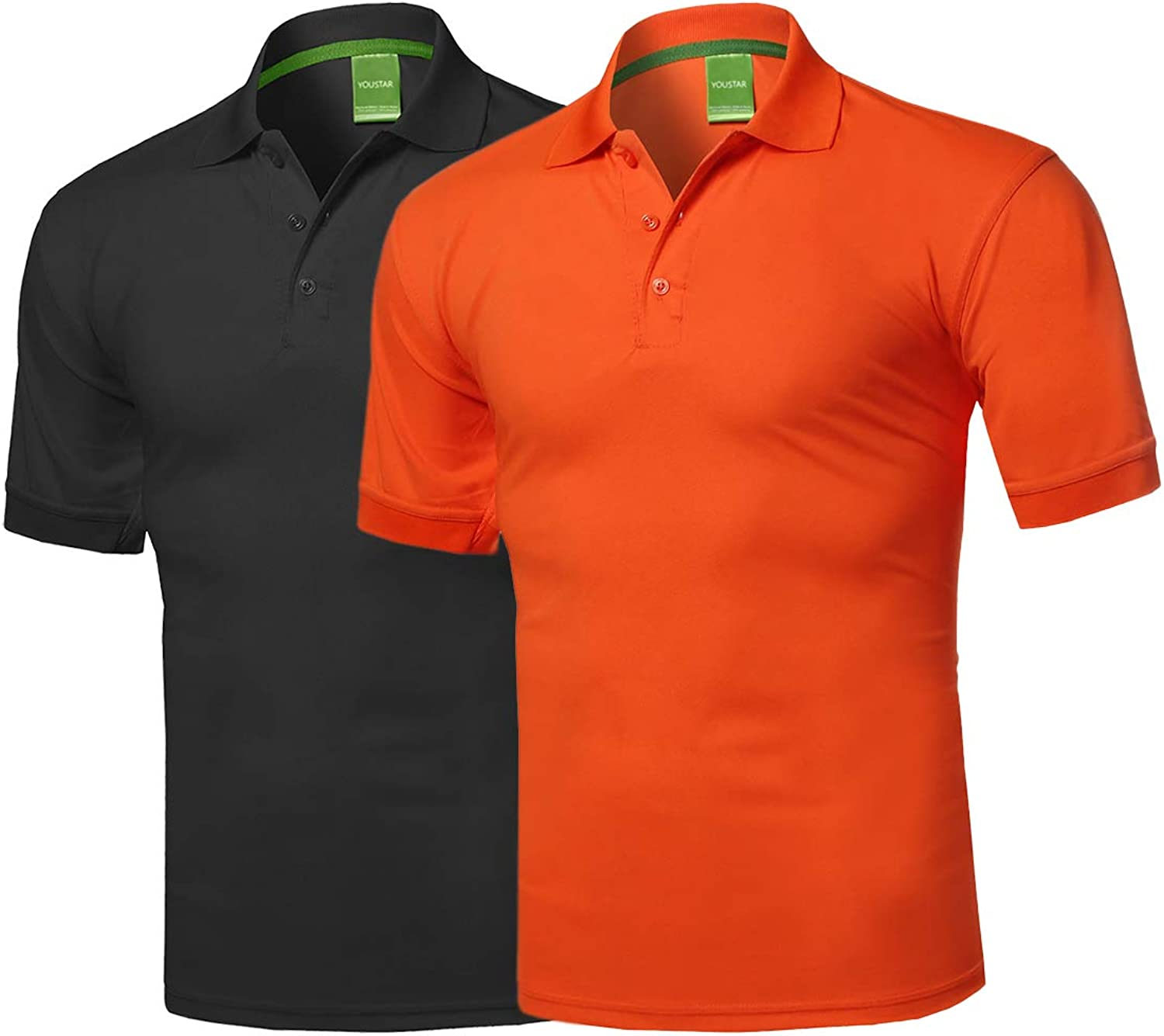 Amazon.com: Men's Solid Cool Dri-Fit Active Athletic Golf Short Sleeves  Polo Shirt: Clothing