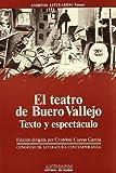 img - for El teatro de Buero Vallejo, texto y especta culo: Actas del III Congreso de Literatura Espan ola Contempora nea, Universidad de Ma laga, 14, 15, 16 y ... literarios. Ensayo) (Spanish Edition) book / textbook / text book