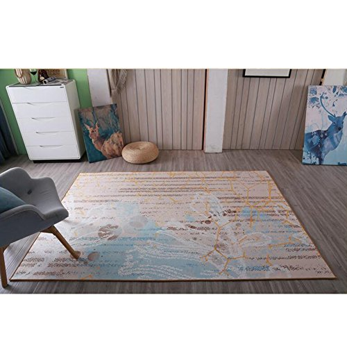 Fashion Geometry Home Rugs - MeMoreCool Seven Patterns No Fading Anti-slipping Simple Style Living Room Tea Table Carpets 63 X 91 (Tea Bag Tiles)