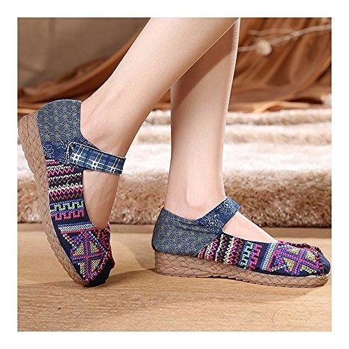 Punto Zapatos Bordados Y Violeta Cruz Elegantes De Bonitos OTvAq