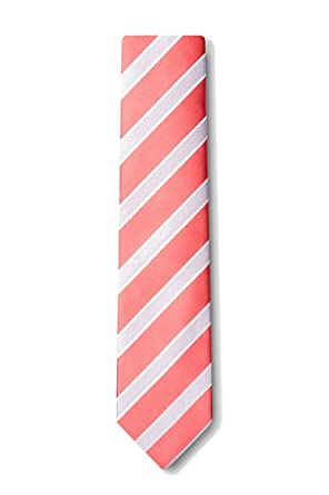 a80093f178e9 Image Unavailable. Image not available for. Color: Boys Jefferson Coral Stripe  Necktie ...