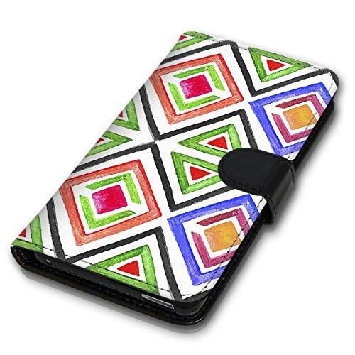 Wallet Book Style Flip Handy Tasche Case Schutz Hülle Schale Motiv Etui für Apple iPhone 6 / 6S - Design Flip MVD32