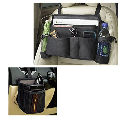 Set of Car seat organizers to keep your car neat and tidy at all times - High Road Car Seat Organizer for front seat, for all your basic needs - And an Air Vent 2-Pocket Car Cell Phone (Cupcake Decorating Halloween Tip)