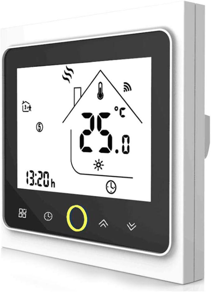 Termostato de Calefacción Wifi-Termostato Wifi para Calderas de Gas/Calentamiento de Agua,Termostato Digital Calefaccion Compatible con Alexa Google Home,Controlador de Temperatura 5A