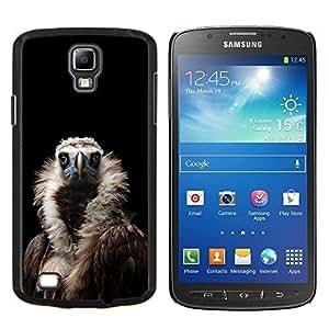 Condor Aves Buitre Negro Naturaleza Pluma- Metal de aluminio y de plástico duro Caja del teléfono - Negro - Samsung i9295 Galaxy S4 Active / i537 (NOT S4)