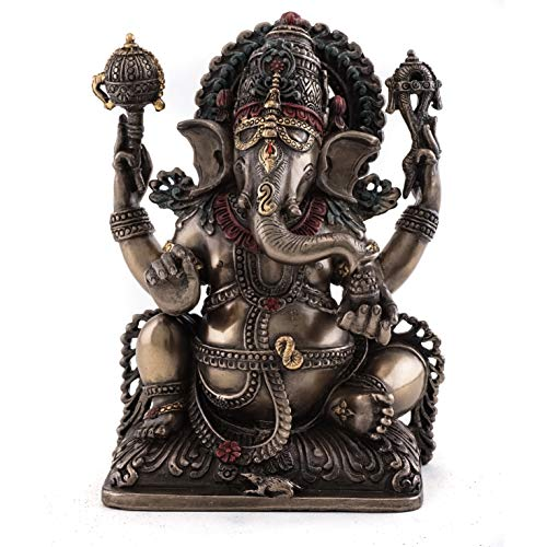 - Top Collection Ganesh Statue- Lord of Prosperity & Fortune Sculpture in Cold Cast Bronze-5.75-Inch Figurine