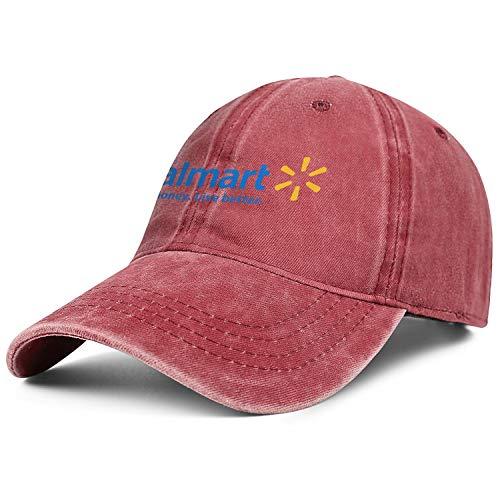 Bombline Mens Womens Walmart- Adjustable Retro Summer Hats Trucker Washed Dad Hat Cap -