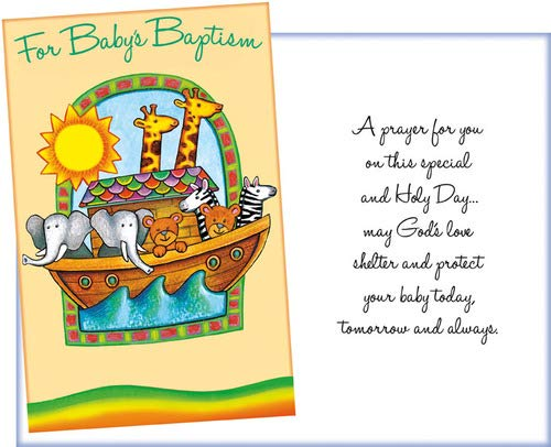 Prime Greetings Religious Baby Baptism Greeting Card