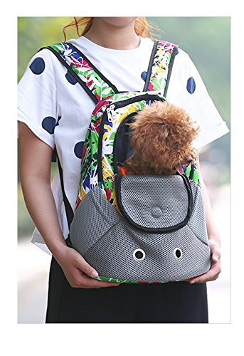 Lepet Dog Carrier Backpack Small Front Back Backpack Pet Carrier for Travel (Graffiti)