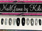 Black and Silver Hand Designed Press-on Glue-on Nails Custom Nails False Nails Fake Nails Coffin Nails Handmade Nail Set