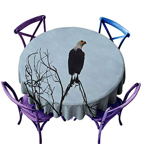 Acelik Round Tablecloth,Bird in Okavango Delta,Table Cover for Home Restaurant,43 INCH