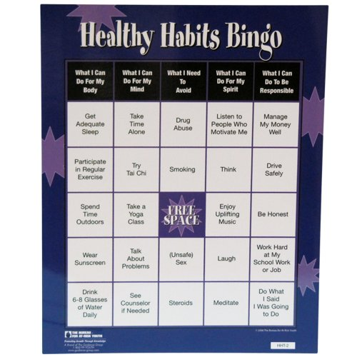 healthy habits bingo game best laundry detergent of health a