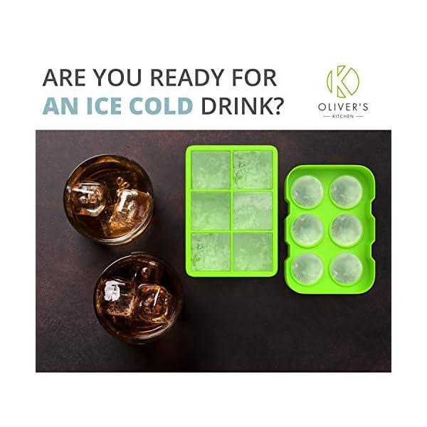 Oliver's Kitchen – Set di 2 Vassoi per Cubetti di Ghiaccio – Tieni Più Freschi Più a Lungo i tuoi Drink – Grandi Stampi… 7 spesavip