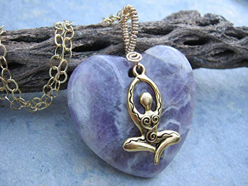Amethyst Goddess Necklace, 20