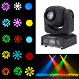 Lixada DMX-512 Mini Moving Head Light RGBW LED Stage Light with Shapes Automatic Professional 9/11 Channel Party Disco Show 25W AC 100-240V Sound Active