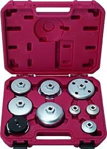 KS Tools 150.9210 - Llave de servicio de aceite ajustado, 9 piezas, para filtro de aceite y filtro de tapa de la carcasa