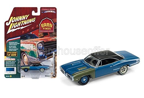 NEW DIECAST TOYS CAR JOHNNY LIGHTNING 1:64 MUSCLE CARS USA 2018 RELEASE 1 VERSION A 1970 DODGE CORONET SUPER BEE BRIGHT BLUE POLY JLCP7080-24