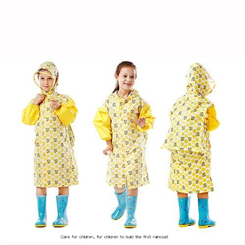 E yuyi Xl Colore dimensioni bambini Opzionale opzionali F colori 6 trasparente Impermeabile cappello ZZHF Grande addensare poncho Mantello impermeabile Dimensioni per Poncho Zhihui 1REqUwBnE