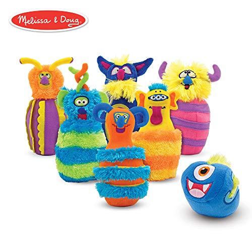 Melissa & Doug Monster Bowling Game (8 Pieces, Mesh Storage Bag)