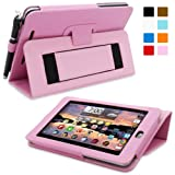Snugg Nexus 7 2 FHD Case - Smart Cover with Flip Stand & Lifetime Guarantee (Candy Pink Leather) for Google Nexus 7 2 FHD (2013)