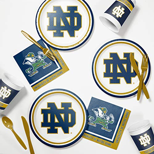 Creative Converting University of Notre Dame Tailgating Kit, Serves 8