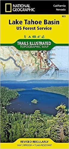 Lake Tahoe Basin US Forest Service National Geographic Trails - Geographic map us