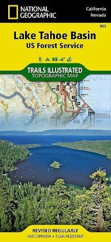 Lake Tahoe Basin [US Forest Service] (National Geographic Trails Illustrated - Lake Tahoe Shopping In