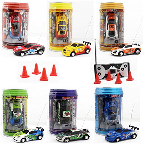 Mini Coke Can Speed Rc Radio Remote Conrtol Micro Racing Car with Led Lingts Toys Kids Gift