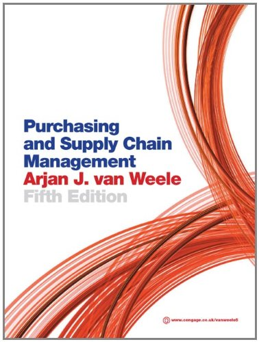 Purchasing and Supply Chain Management: Analysis, Strategy, Planning and Practice (Method Analysis In Production And Operation Management)