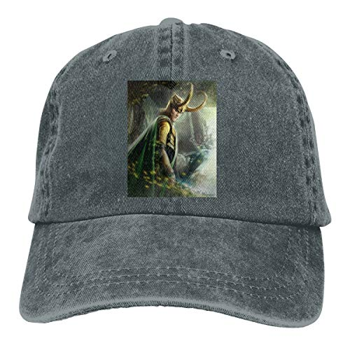 TIANBA Designed Print Breathable Hats Avengers Loki Cool Baseball Cap Deep Heather