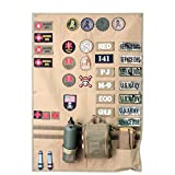 OneTigris Patches Display Panel, Durable Foldable Tactical Morale Patches Holder Available in 3 Colors