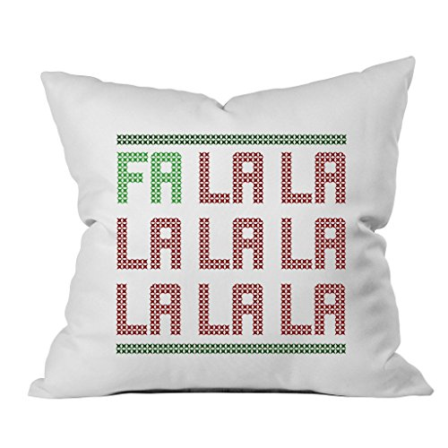 [Oh, Susannah FA LA LA Christmas Throw Pillow Cover (1 18 x 18 Inch, Green, Red)] (Dance Hall Holly Costumes)