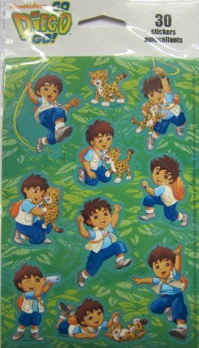 Nickleodeon Go Diego Go! - 30 Stickers by Kid Squad