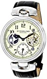 Stuhrling Original Men's 501.01 Special Reserve Emperor Dual Time Analog Display Automatic Self Wind Black Watch