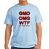 CafePress GMO OMG WTF Are We Eating? T-Shirt - 100% Cotton T-Shirt