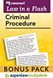 Law in a Flash : Criminal Procedure 2010, Emanuel, Steven L., 1454802588