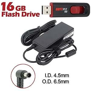 Battpit Cargador Adaptador de repuesto para portátiles Sony VAIO VGN-NR320E/S con cable alimentación Con memoria USB de 16GB GRATUITA
