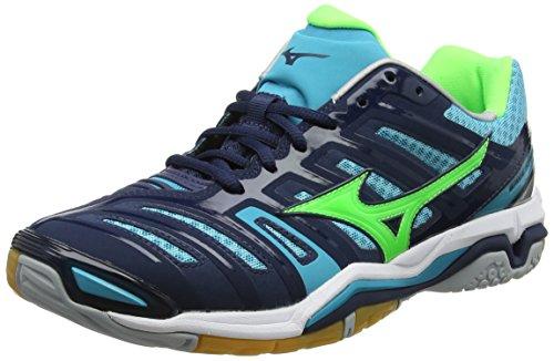 Homme Dressbluesgreengeckopeacockblue 4 Chaussures Bleu Multicolore Stealth de Wave Mizuno Running YFAxBqCw7F