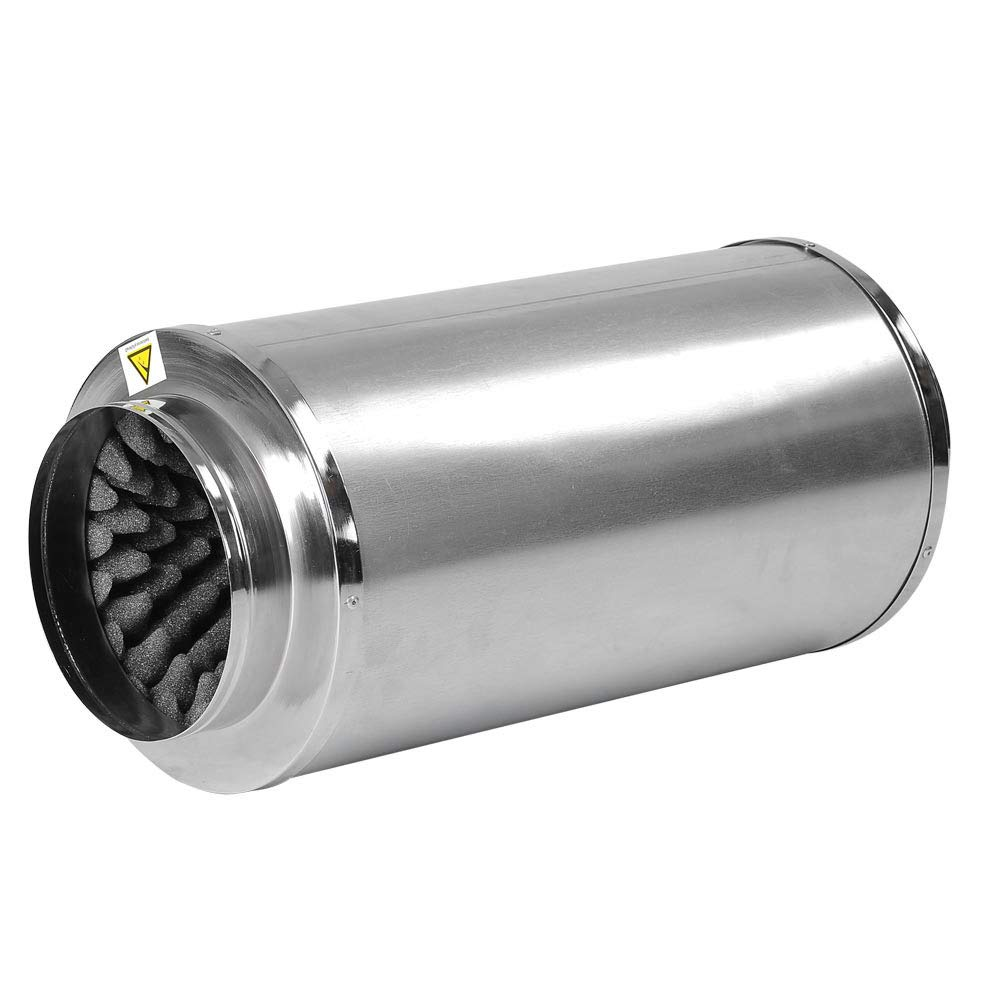 LAGarden 8 inch Inline Duct Fan Blower Silencer Muffler Noise Reducer for Indoor Hydroponics Grow Light Tent System by LAGarden