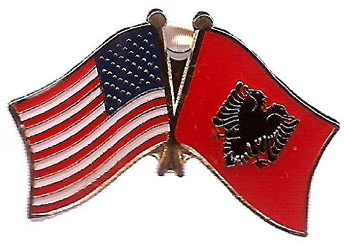 Pack of 3 Albania & US Crossed