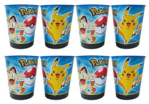 Pokemon Pikachu & Friends 16oz Plastic Party Favor Cups 8 Pack